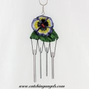 Pansy Flower Wind Chime